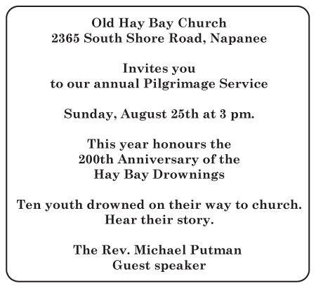 Pilgrimage Service Sunday August 25 at 3:00