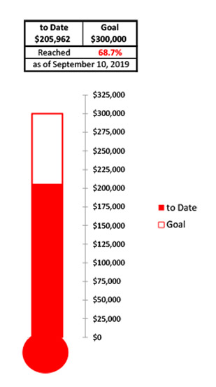 Goal Thermometer $205,962.
